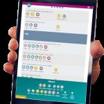 Menu Guide food allergen software on a tablet