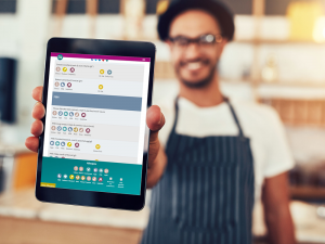 Using Menu Guide to show an allergen menu on a tablet