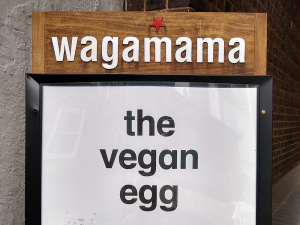 Wagamama vegan egg advert